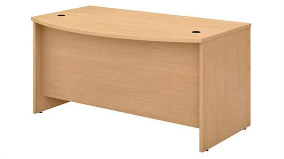 """Executive Desks Bush Furniture 60"""" W x 36"""" D Bow Front Desk"""