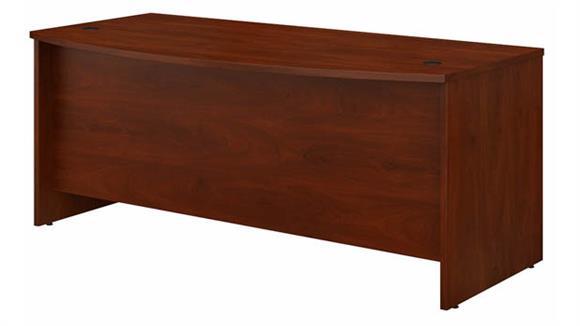 """Executive Desks Bush Furniture 72"""" W x 36"""" D Bow Front Desk"""