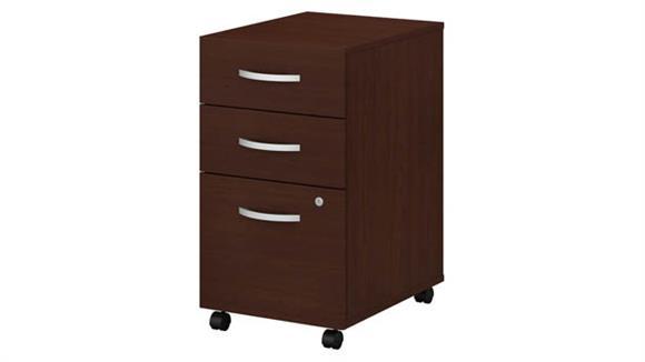 File Cabinets Vertical Bush Furniture 3 Drawer Mobile File Cabinet - Assembled