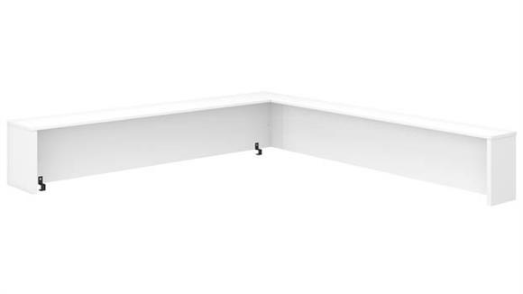 "Desk Parts & Accessories Bush Furniture 72"" W L-Shaped Reception Desk Shelf"