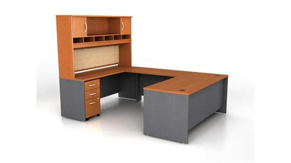 U Shaped Desks Bush Furniture U Shaped Desk with Hutch
