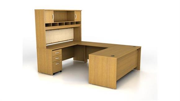 U Shaped Desks Bush Furniture U Shaped Desk with Hutch