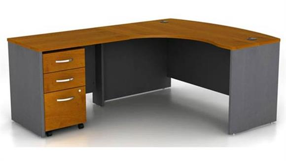 L Shaped Desks Bush Furniture Bow Front L Shaped Desk