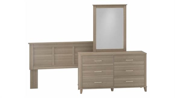 Bedroom Sets Bush Furniture Dresser with Mirror and Full/Queen Size Headboard
