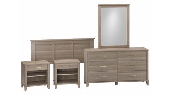 Bedroom Sets Bush Furniture Full/Queen Size 5 Piece Bedroom Set