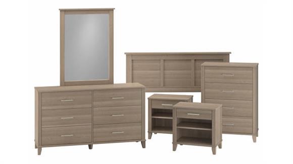 Bedroom Sets Bush Furniture Full/Queen Size 6 Piece Bedroom Set