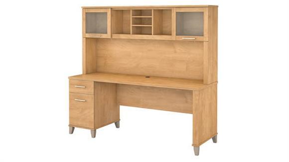 "Computer Desks Bush Furniture 72""W Office Desk with Hutch"