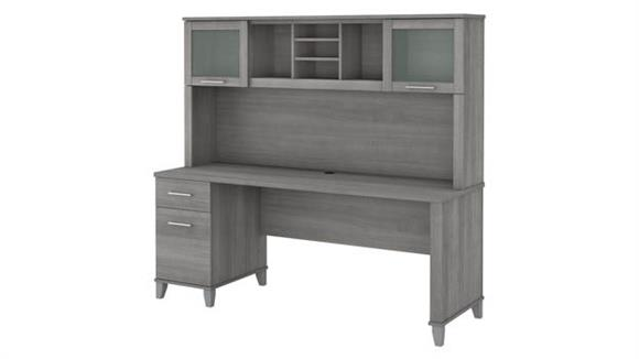 """Computer Desks Bush Furniture 72""""W Office Desk with Drawers and Hutch"""