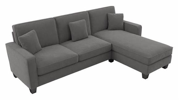 """Sectional Sofas Bush Furniture 102""""W Sectional Couch with Reversible Chaise Lounge"""