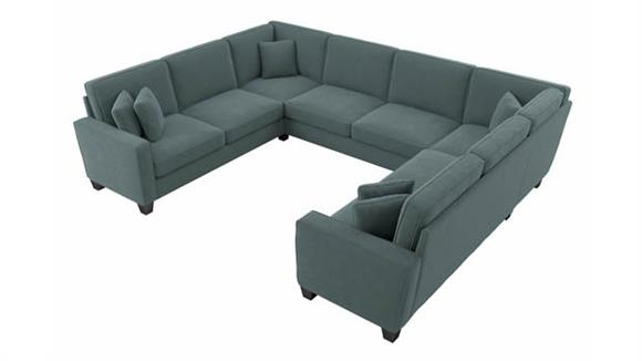 """Sectional Sofas Bush Furniture 123""""W U-Shaped Sectional Couch"""