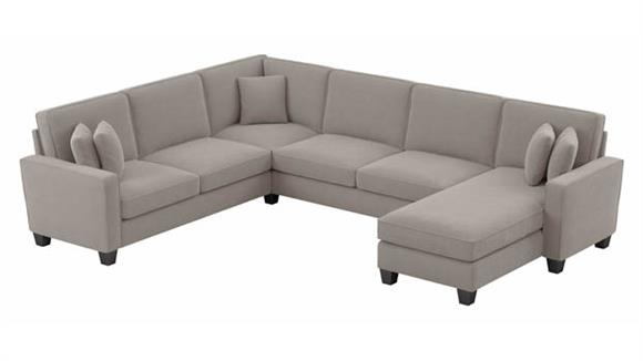 """Sectional Sofas Bush Furniture 127""""W U-Shaped Sectional Couch with Reversible Chaise Lounge"""