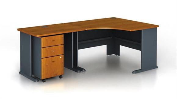 Modular Desks Bush Furniture Modular Corner Desk with Pedestal