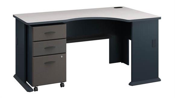 Corner Desks Bush Furniture Right Corner Desk with Mobile File Cabinet