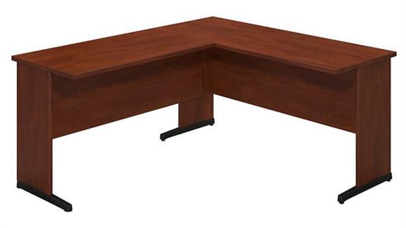 "L Shaped Desks Bush Furniture 60""W x 24""D C Leg Desk with 42""W Return"