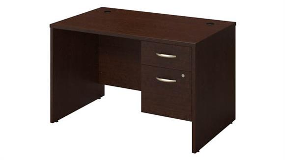 "Executive Desks Bush Furniture 48""W x 30""D Desk Shell with 3/4 Pedestal"