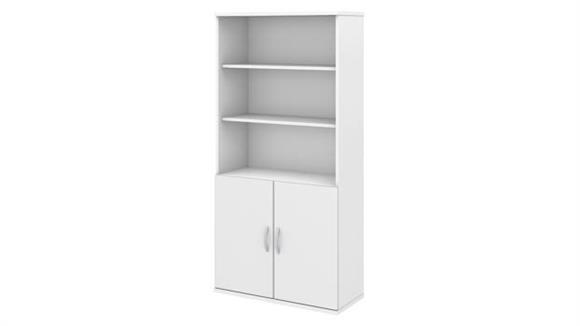 Bookcases Bush Furniture 5 Shelf Bookcase with Doors