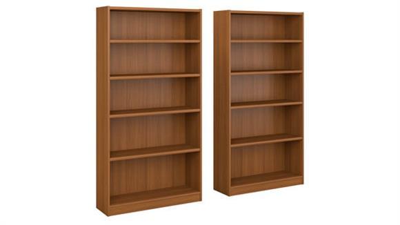 Bookcases Bush Furniture 5 Shelf Bookcase - Set of 2