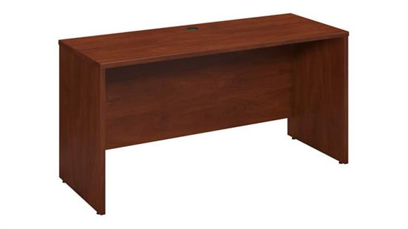 "Office Credenzas Bush Furniture 60""W x 24""D Desk/Credenza/Return"