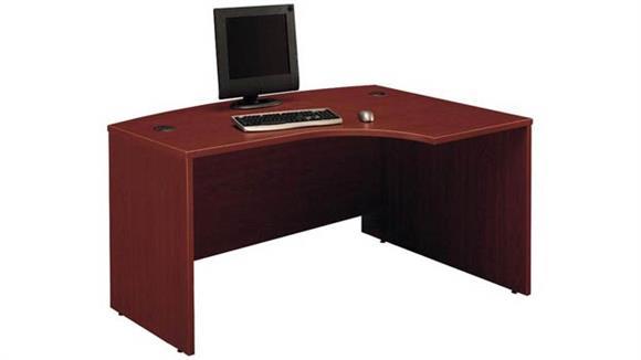 "Executive Desks Bush Furniture 60"" W x 43""D Right Handed L-Bow Desk"