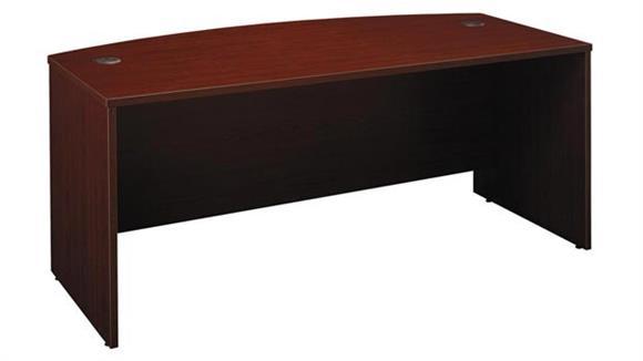 """Executive Desks Bush Furniture 72"""" W x 36""""D Bow Front Desk"""