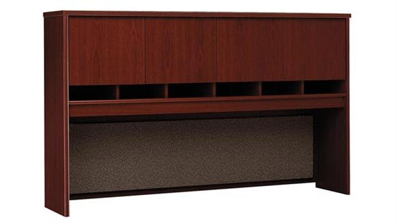 "Hutches Bush Furniture 72"" W 4 Door Hutch"
