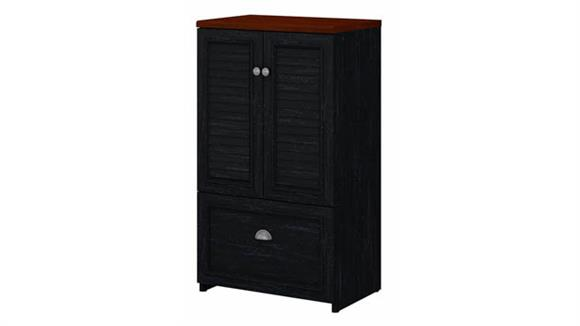 Storage Cabinets Bush Furniture 2 Door Storage Cabinet with File Drawer