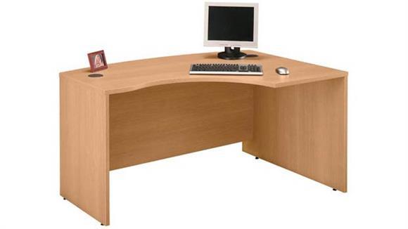 "Executive Desks Bush Furniture 60"" W x 43"" D Right Handed L-Bow Desk"