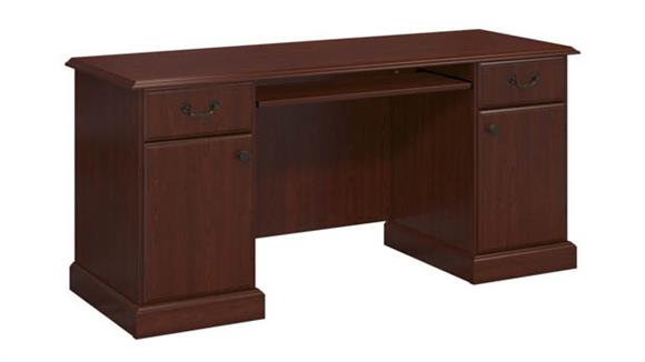 Office Credenzas Bush Furniture Double Pedestal Credenza