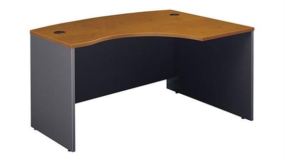 "Executive Desks Bush Furniture 60""W x 43""D Right Handed L-Bow Desk"