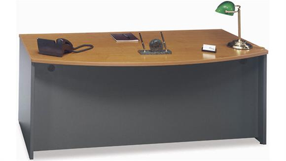 "Executive Desks Bush Furniture 71"" Bow Front Desk Shell"