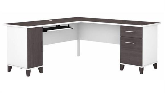 "L Shaped Desks Bush Furniture 72"" W L-Shaped Desk with Storage"