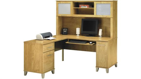 L Shaped Desks Bush Furniture L Shaped Desk with Hutch