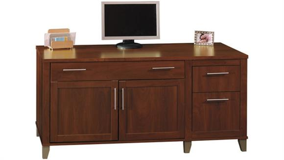 "Office Credenzas Bush Furniture 60"" Computer Credenza"