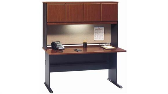 "Modular Desks Bush Furniture 60"" Desk with Hutch"