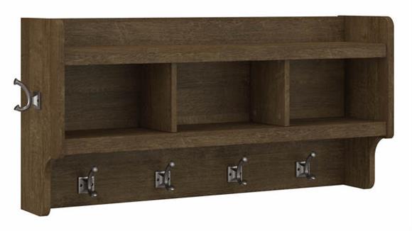 "Coat Racks Bush Furniture 40""W Wall Mounted Coat Rack with Shelf"