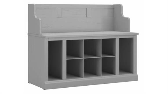 """Benches Bush Furniture 40""""W Entryway Bench with Shelves"""