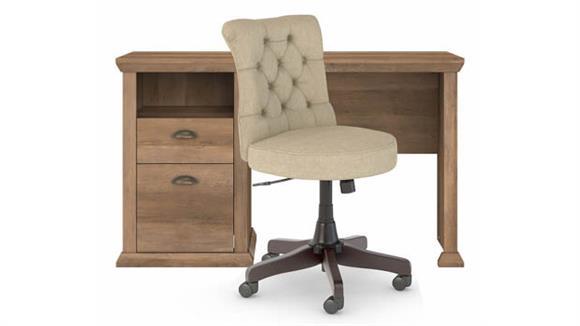 "Computer Desks Bush Furniture 50"" W Home Office Desk and Chair Set"