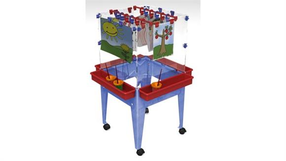 Activity & Play Child Brite Youth 4 Station Space Saver Easel