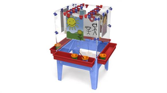Activity & Play Child Brite Toddler 4 Station Space Saver Easel