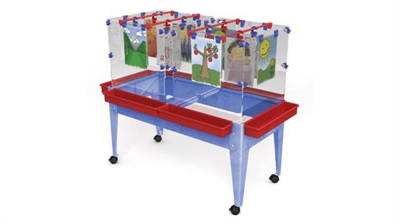 Activity & Play Child Brite Youth 6 Station Space Saver Easel