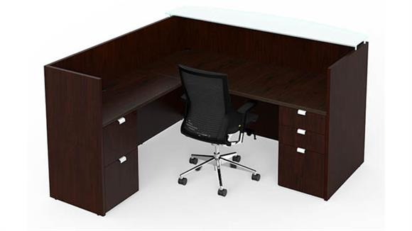 Reception Desks Cherryman Furniture Wood Veneer Bow Front Reception Desk