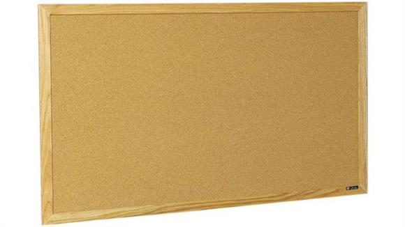 Bulletin & Display Boards Claridge 4 x 8 Wood Framed Bulletin Board