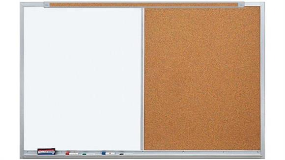 White Boards & Marker Boards Claridge 3 x 4 Markerboard and Tackboard Combo Unit