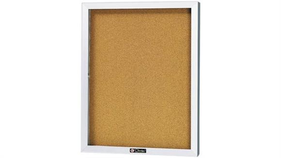 Bulletin & Display Boards Claridge 24 x 18 Bulletin Board Cabinet