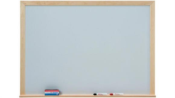 White Boards & Marker Boards Claridge 4 x 4 Wood Framed Porcelain Markerboard