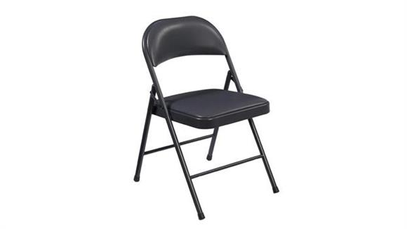 Folding Chairs Commercialine Vinyl Upholstered Steel Folding Chair