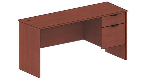 "Executive Desks Candex 48"" x 24"" Single Pedestal Desk"