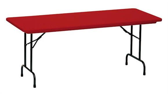 "Folding Tables Correll 72"" x 30"" Blow Molded Folding Table"