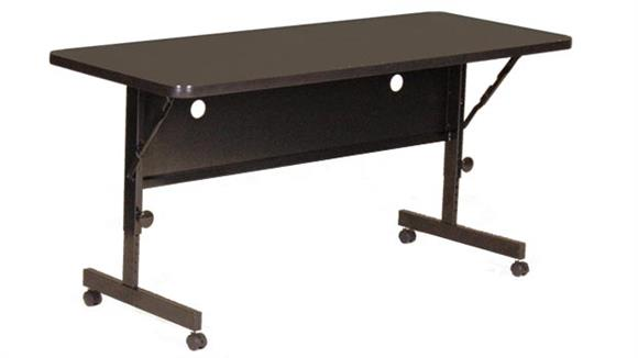 "Folding Tables Correll 48"" x 24"" Deluxe Flip Top Table"