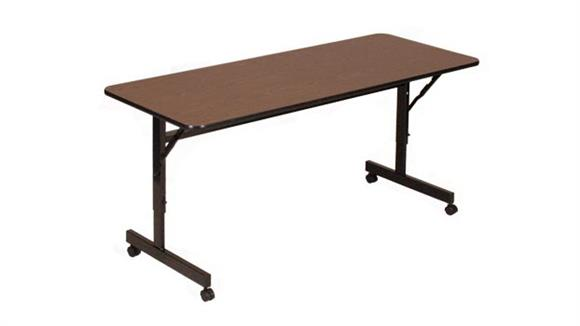 "Folding Tables Correll 48"" x 24"" Econoline Flip Top Table"